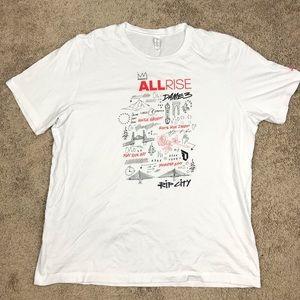 Adidas Damian Lillard ALL RISE Rip City Shirt